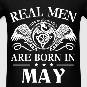Real men are born in May - Men's T-Shirt