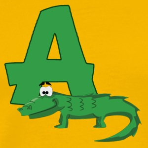 A Is For Alligator - Men's Premium T-Shirt