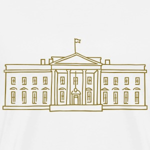 The White House (gold) - Men's Premium T-Shirt