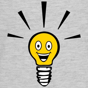 Light bulb with smiley - big idea Kids' Shirts - Kids' Premium Long Sleeve T-Shirt