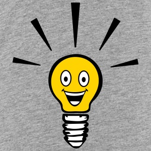Light bulb with smiley - big idea Baby & Toddler Shirts - Toddler Premium T-Shirt