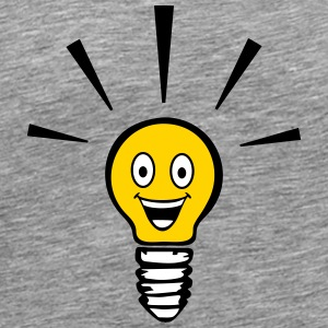 Light bulb with smiley - big idea T-Shirts - Men's Premium T-Shirt