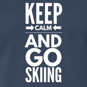 KEEPCALMSKIING - Men's Premium T-Shirt