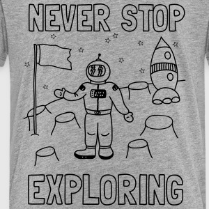 Never stop exploring (outer space) Kids' Shirts - Kids' Premium T-Shirt