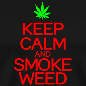 Keep calm smoke weed - Men's Premium T-Shirt
