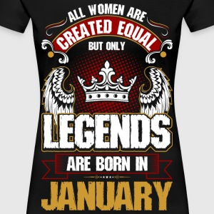All Women Are Created Equal But Only Legends Are  T-Shirts - Women's Premium T-Shirt