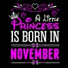 A Little Princess Is Born In November T-Shirts - Women's Premium T-Shirt