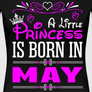 A Little Princess Is Born In May T-Shirts - Women's Premium T-Shirt