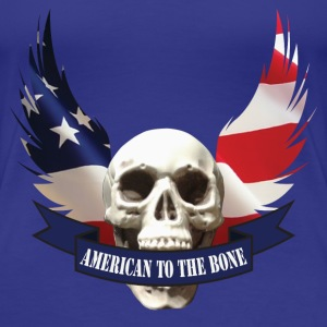 American to the Bone-01 T-Shirts - Women's Premium T-Shirt