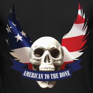 American to the Bone-01 Long Sleeve Shirts - Men's Long Sleeve T-Shirt by Next Level