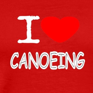 I LOVE CANOEING - Men's Premium T-Shirt