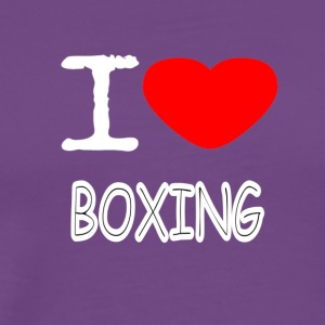 I LOVE BOXING - Men's Premium T-Shirt