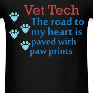 Vet Tech - Vet Tech - The road to my heart is pave - Men's T-Shirt