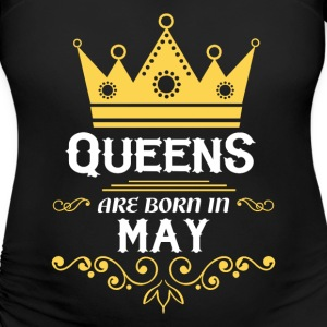 queens are born in may T-Shirts - Women's Maternity T-Shirt