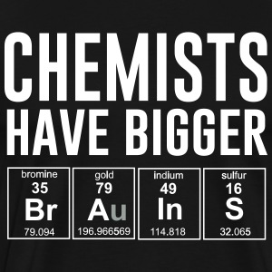 Chemists have bigger brains T-Shirts - Men's Premium T-Shirt
