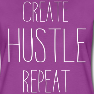 Create Hustle Repeat T-Shirts - Women's Premium T-Shirt