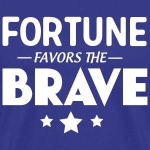 Fortune favors the brave T-Shirts - Men's Premium T-Shirt