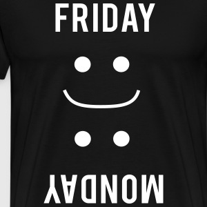 Friday Smiles. Monday Frown T-Shirts - Men's Premium T-Shirt