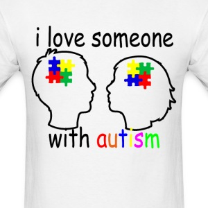 i_love_someone_with_autism_ - Men's T-Shirt