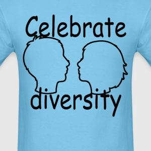 celebrate_diversity_tshirt_ - Men's T-Shirt