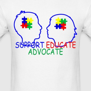 autism_support_educate_advocate_ - Men's T-Shirt
