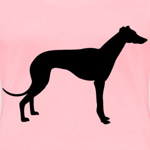 greyhound silhouette - Women's Premium T-Shirt