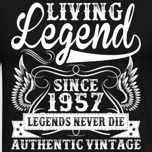 Living Legend Since 1957 Legends Never Die T-Shirts - Men's Premium T-Shirt