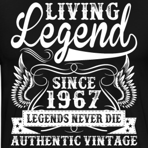 Living Legend Since 1967 Legends Never Die T-Shirts - Men's Premium T-Shirt