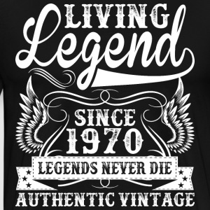 Living Legend Since 1970 Legends Never Die T-Shirts - Men's Premium T-Shirt