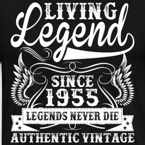 Living Legend Since 1955 Legends Never Die T-Shirts - Men's Premium T-Shirt