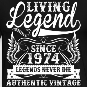 Living Legend Since 1973 Legends Never Die T-Shirts - Men's Premium T-Shirt