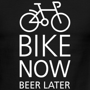 Bike now beer later T-Shirts - Men's Ringer T-Shirt