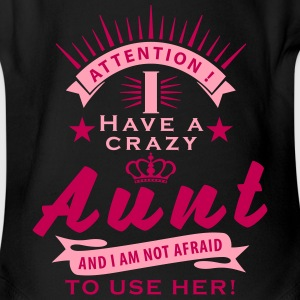 attention_crazy_aunt_01_2017_01_2c Baby Bodysuits - Short Sleeve Baby Bodysuit