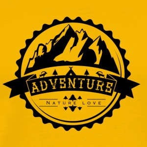 Adventure logo - Nature love - - Men's Premium T-Shirt