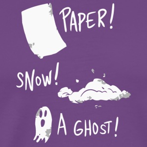 Paper snow and a ghost shirt - Men's Premium T-Shirt