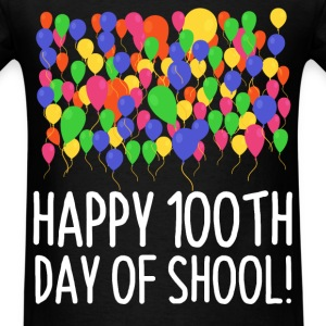 Count them 100 Balloons 100th Day of School Teache - Men's T-Shirt