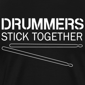Drummers stick together T-Shirts - Men's Premium T-Shirt