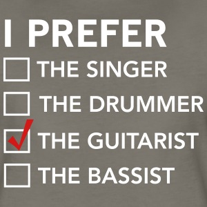 I prefer the guitarist checklist T-Shirts - Women's Premium T-Shirt