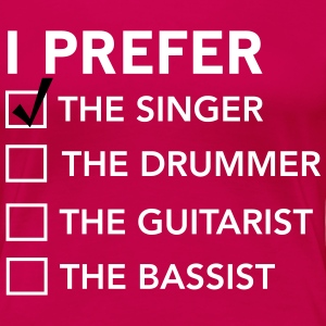 I prefer the singer checklist T-Shirts - Women's Premium T-Shirt