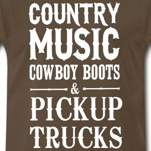 Country music cowboy boots and pickup trucks T-Shirts - Men's Premium T-Shirt