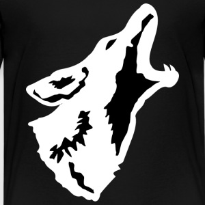 Howling Coyote - White - Kid's - Kids' Premium T-Shirt