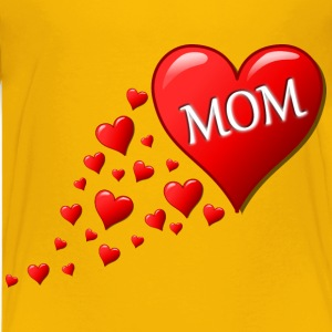 Mother s day heart with small hearts track - Kids' Premium T-Shirt