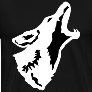 Howling Coyote - White - Men's - Men's Premium T-Shirt