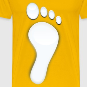 water foot print - Men's Premium T-Shirt
