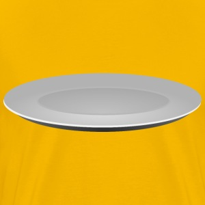 Plain Grey Plate - Men's Premium T-Shirt