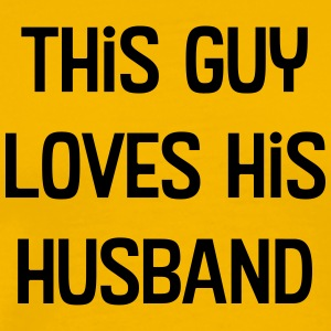 This Guy Loves His Husband - Men's Premium T-Shirt