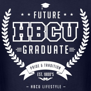 Future HBCU Graduate - Men's Ivory and Navy T-shir - Men's T-Shirt