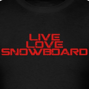 live love snowboard shirt - Men's T-Shirt