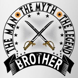 BROTHER THE MAN THE MYTH THE LEGEND Mugs & Drinkware - Contrast Coffee Mug
