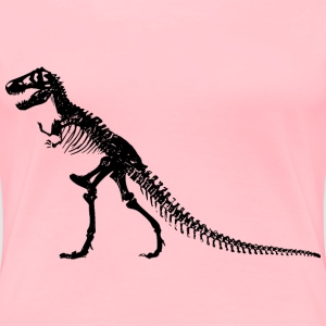 TRex Skeleton - Women's Premium T-Shirt